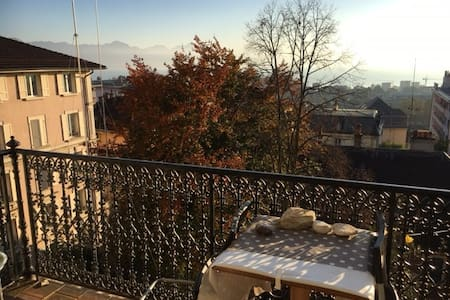 Very cosy flat with a beautiful view on the lake - Lausanne - Apartmen