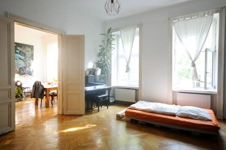 Bright, quiet and spacious room next to the center - Wenen