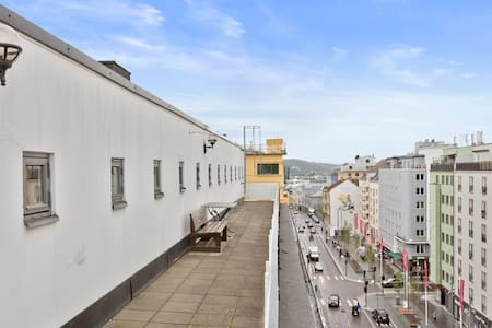 Fresh, central flat 2 bedrooms with rooftop - Oslo - Apartment