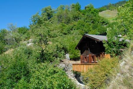 Naturnahe Hütte zu Fuss erreichbar - Gampel-Bratsch - Sommerhus/hytte