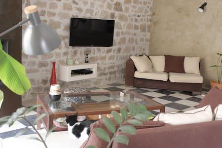 Chambre dans maison de village médiéval, courette - Talo