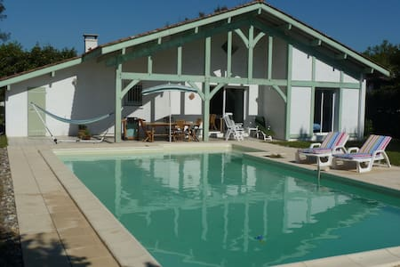 Landes maison 120m2, piscine, 8pers - Villa