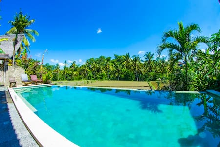 Open Bamboo House with Rice Field view + Bali Host - Ubud - Villa