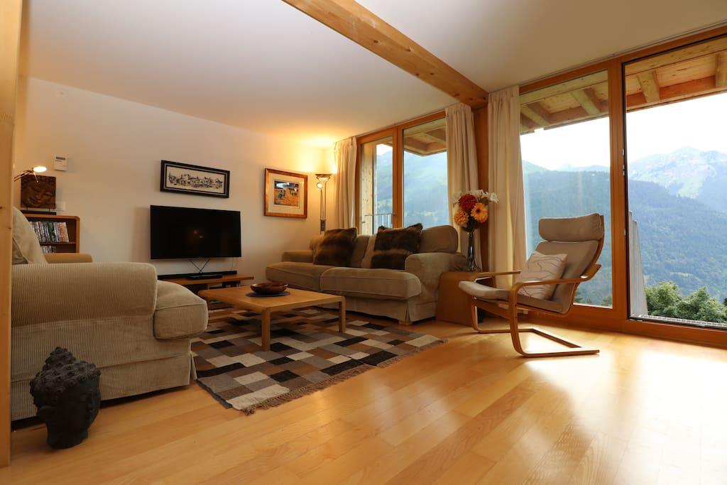 Paradise! Quiet, great views, 3 bedrooms in Wengen