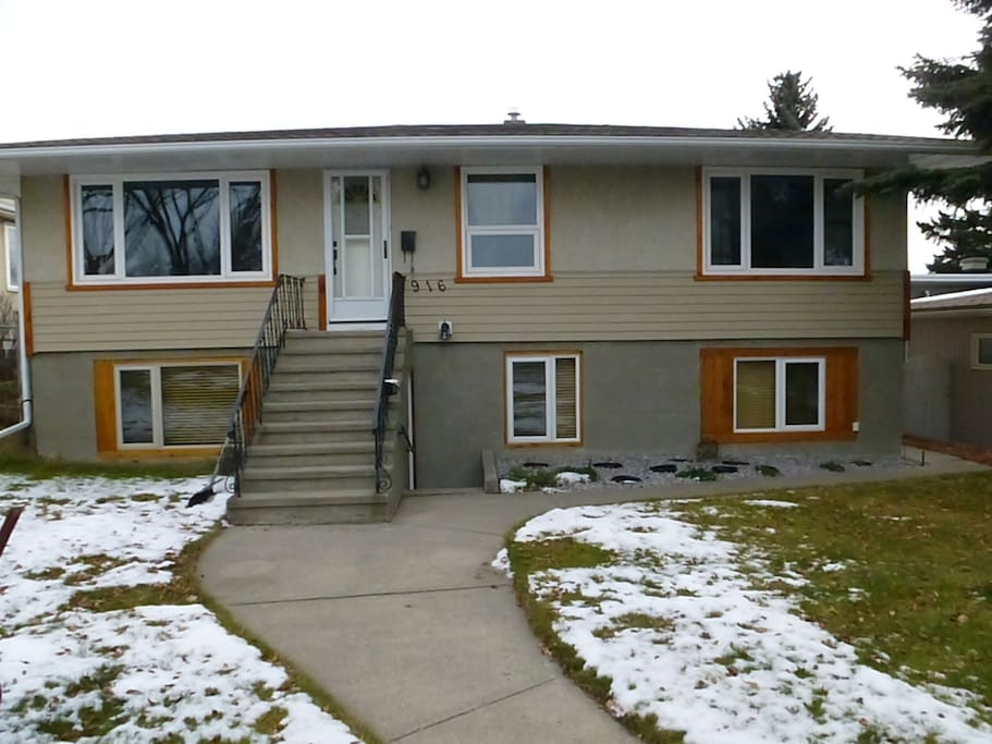 Our home was built in the 1950's and has beeb totally renovated inside. It has a beautiful back yard and is minutes away from bike paths and parks.