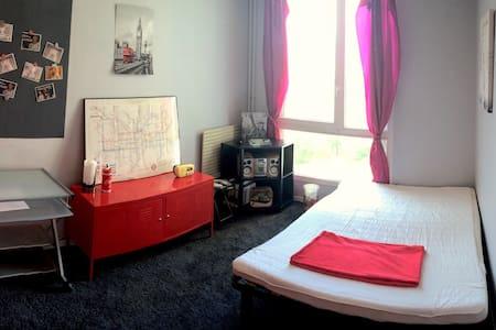 Jolie et calme chambre, vue sur parc - Grenoble - Lägenhet