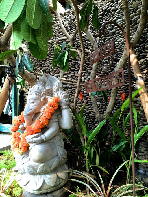 Ganesha stands watch.