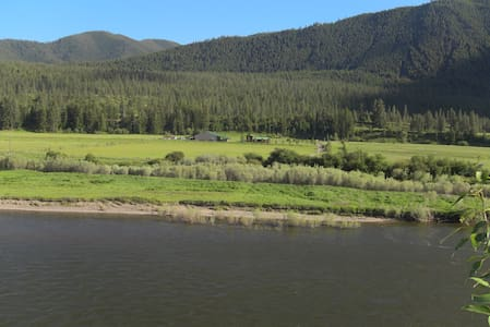 Camping on Clark Fork River, Alberton Gorge launch - Alberton - Zelt