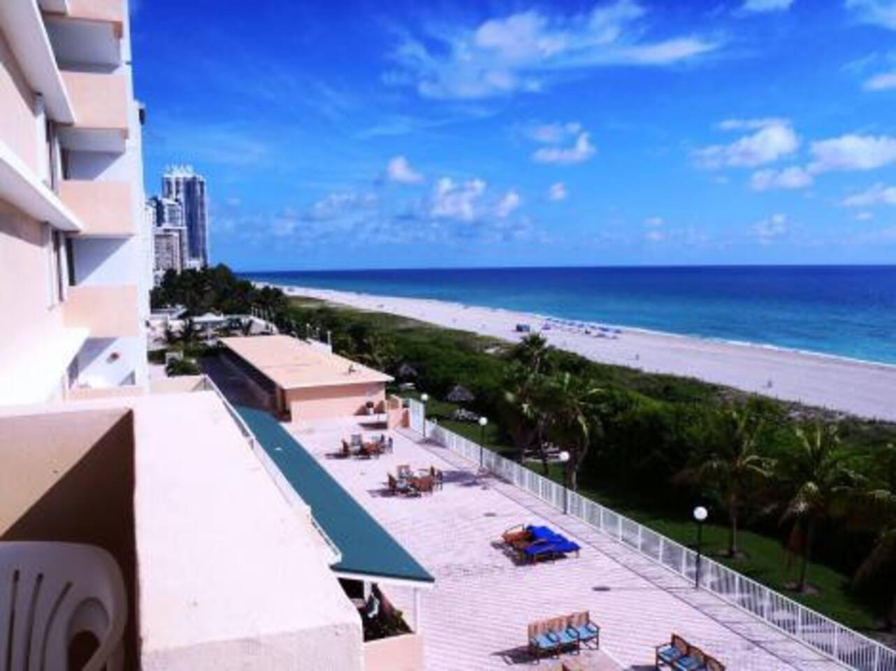 1 BED Ocean view beach w/Parking