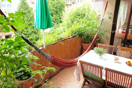 Central green oasis - bright+balcony - Apartment