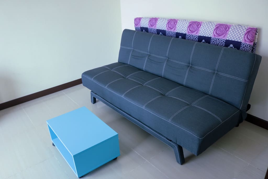 Sofa bed in small office