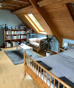 Spacious Scandi style living/bedroom with view. - Abergavenny
