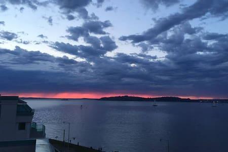 Alki Beach with Seattle's Skyline & Harbor View - Seattle