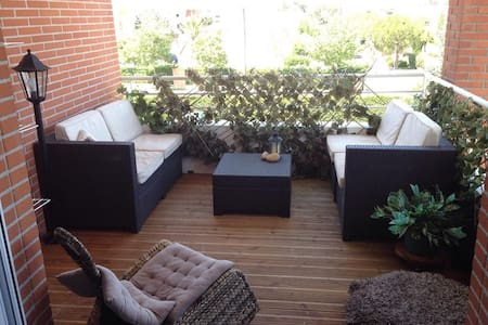 Chambre lumineuse, terrasse, parking, - Toulouse - Apartment