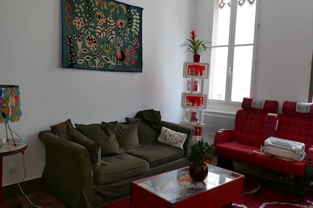 Chambre  dans appt de 90m2 avec patio, centre AUCH - Lägenhet