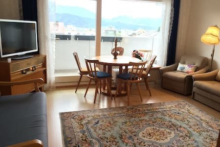 Central flat with panoramic view of Alps,Inn River - Apartemen