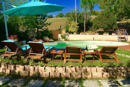 Spoleto Pool Luxury/10 kms to centre/sleeps 6/8 - Uncinano - Villa