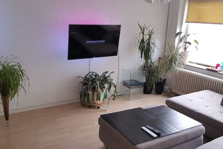 rent a room in our apartment. the room is suitable for two people. The apartment has a kitchen, shower, toilet and separate living room.