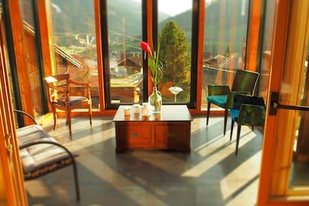 Traumhafter Blick auf das Skigebiet Bergeralm - Maison