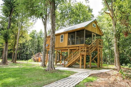 Greene's Pond Treehouse - Cabane