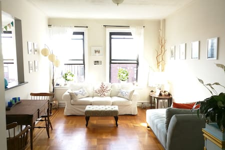 Our pre-war apartment is large & light-filled, with charming decor. The kitchen is brand-new, with full amenities. 5 min from the 4/5 & 2/3, 10 min from the B/Q. Down the street from the Botanic Garden, Brooklyn Museum, & 10 min from Prospect Park.