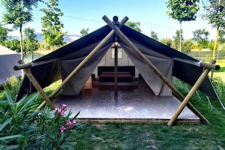 Tuscany Baratti Maxi Lodge Agricamping Tognoni - Stazione di Populonia - Tienda de campaña