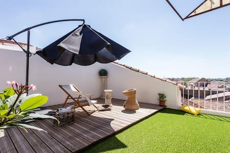 Chambre privée avec jolie terrasse - Béziers - Apartment