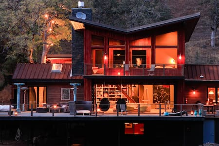 Modern Luxury Riverfront Cabin - Three Rivers - House