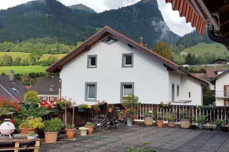 Appartement avec magnifique terrasse sur les Alpes - Albeuve - Apartmen