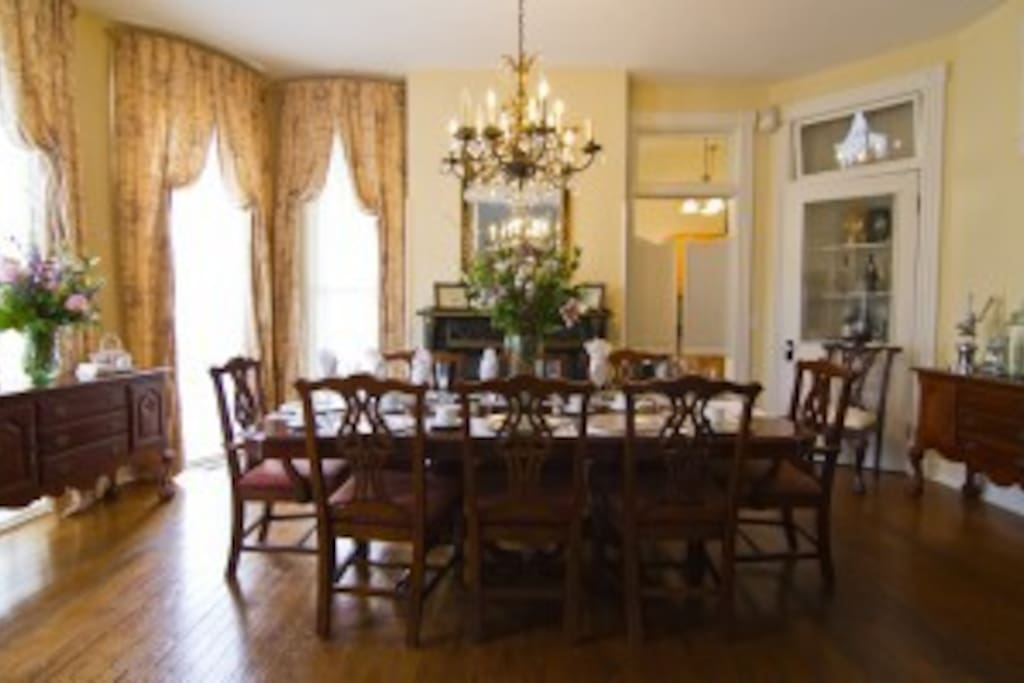 The elegant dining room makes any meal more special.