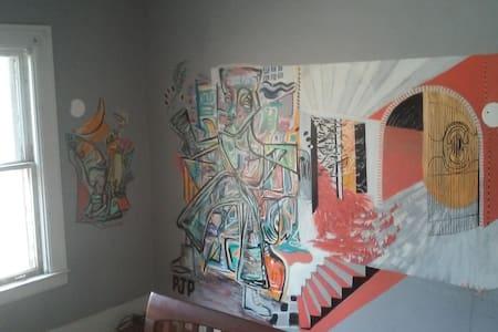 Room #5 Queen + single or bunk - House