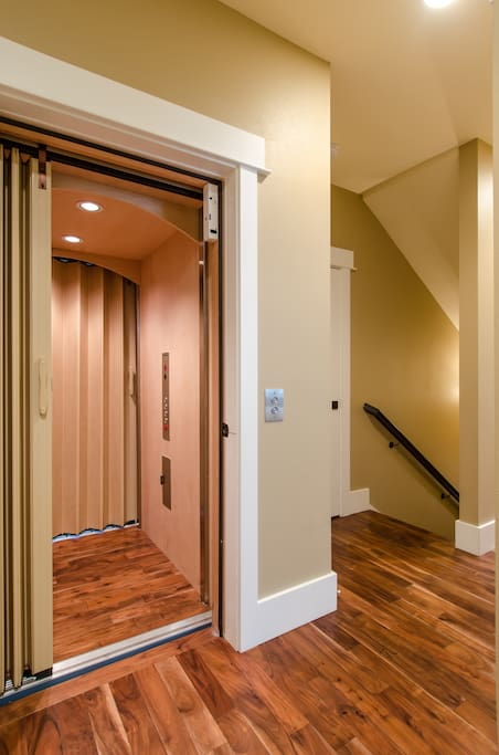 3 story elevator providing access from the garage to the penthouse!