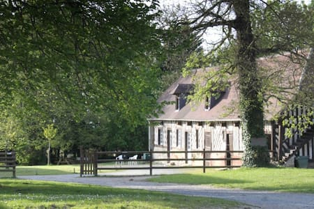 Traditional Normandy house, 26 beds, 40 hectares - Casa
