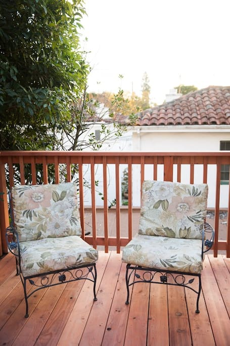 A nice seating area on the private patio deck.