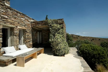 Architect's stone villa with amazing sea views - Talo