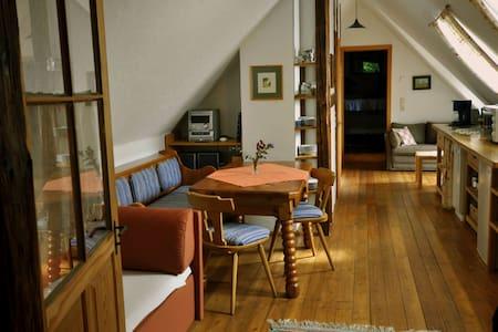 Schlafen und Wohnen im Heuboden - Apartamento