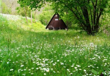 Kis bungaló a siroki vár lábánál. - (ukendt)