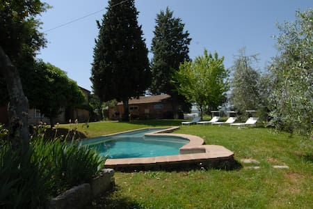 A peaceful villa among olive groves