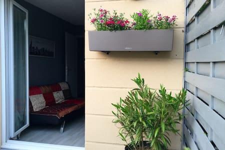 Jolie chambre avec terrasse entre Paris & Giverny - Appartement
