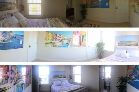 Private Bedroom#1 (Near HWY 75 & KSU in Kennesaw) - Kennesaw - Rivitalo
