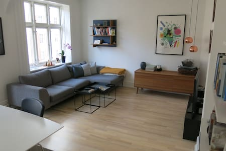 The apartment has a bedroom, a living room, a fully-equipped kitchen and a small bathroom. All placed in Frederiksberg which is very close to the inner city of Copenhagen by bike, bus or metro.