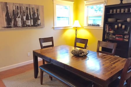 This a nice large suite with Queen bed/pillowtop and a private full bathroom. We have a flat screen tv, couch, table, chairs and large closet space. We are located near SFO airport, Hillsborough/Burlingame area, close to all Transit and city.