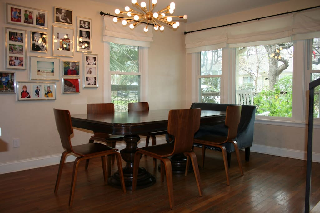 Open and airy dining area will accommodate a large group