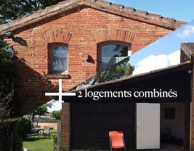 deux maisons indépendantes dans le Lauragais - Ev