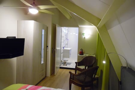 Cozy kamer met eigen badkamer, tv en Wi-Fi. - Bed & Breakfast