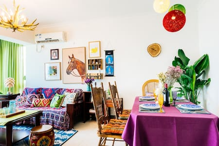 假装在波西米亚 | CBD高层3卧室 近正佳、太古汇、岗顶、华师 吃吃吃 买买买 - Appartement