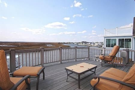 Waterfront w/ Dock, Magnificent Views-Just off LBI - Σπίτι
