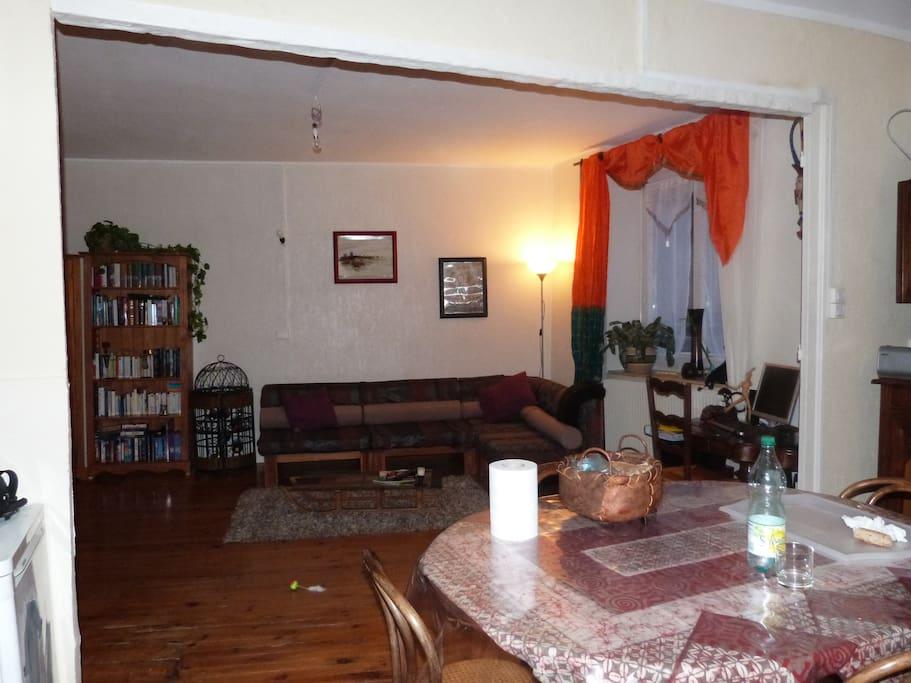 pièce à vivre de 40 m2, le charme d'un intérieur très atypique