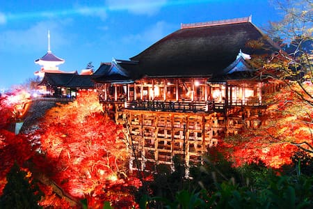 Kiyomizu-dera is 4min by walk.清水寺徒歩四分 - Ganze Etage