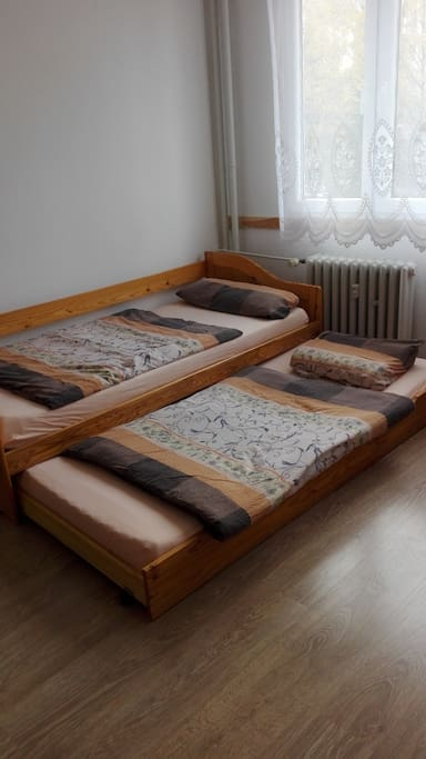 The pull-out bed - for 1 or 2 ppl